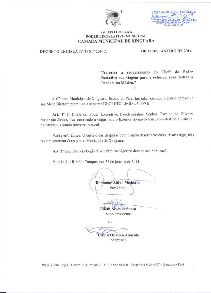 Decreto Legislativo nº 236 - A