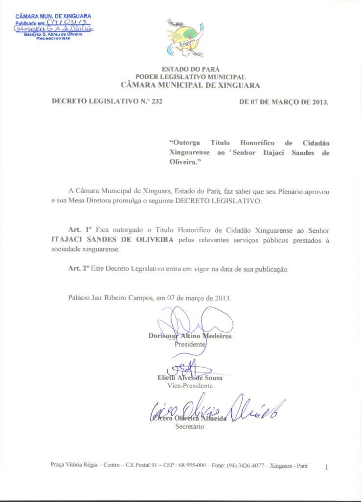 Decreto Legislativo nº 232