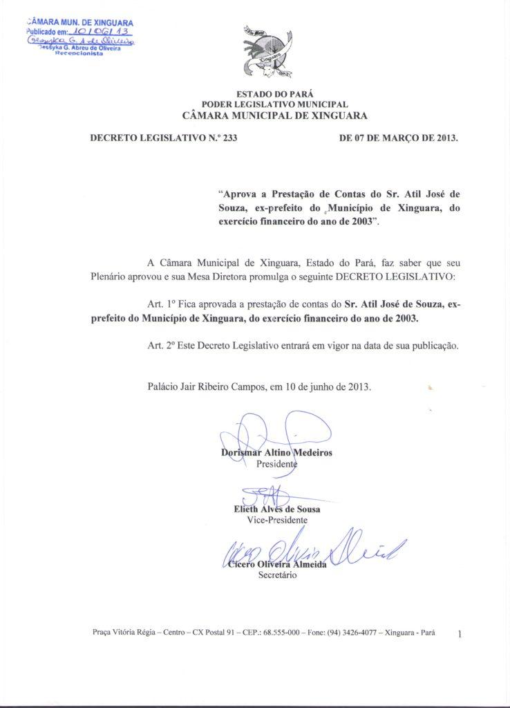 Decreto Legislativo nº 233