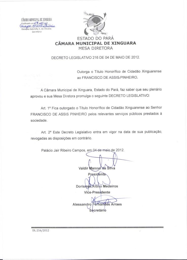 Decreto nº 216