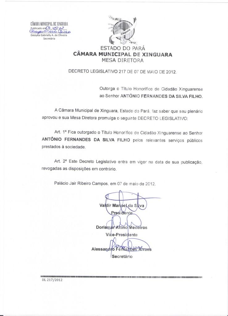 Decreto nº 217