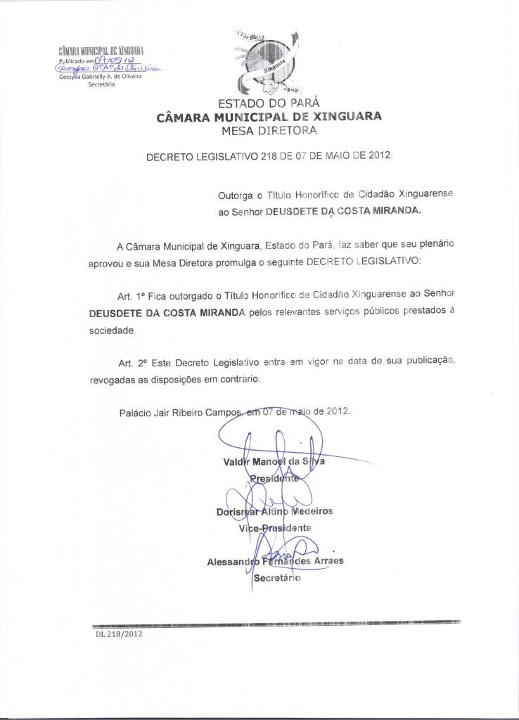 Decreto nº 218