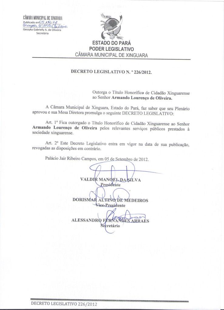 Decreto nº 226